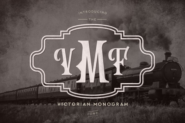 Web Font Victorian Monogram Font example image 1