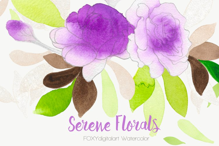 Watercolor flowers wedding invitation rose clipart bohemian example image 1