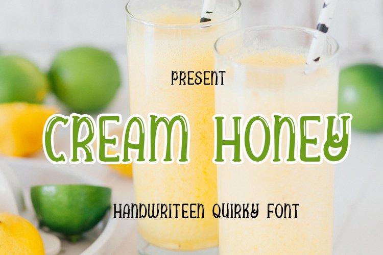 Cream honey example image 1