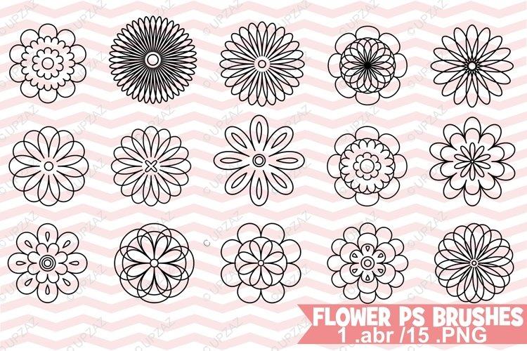 Photoshop Flower Brushes example image 1