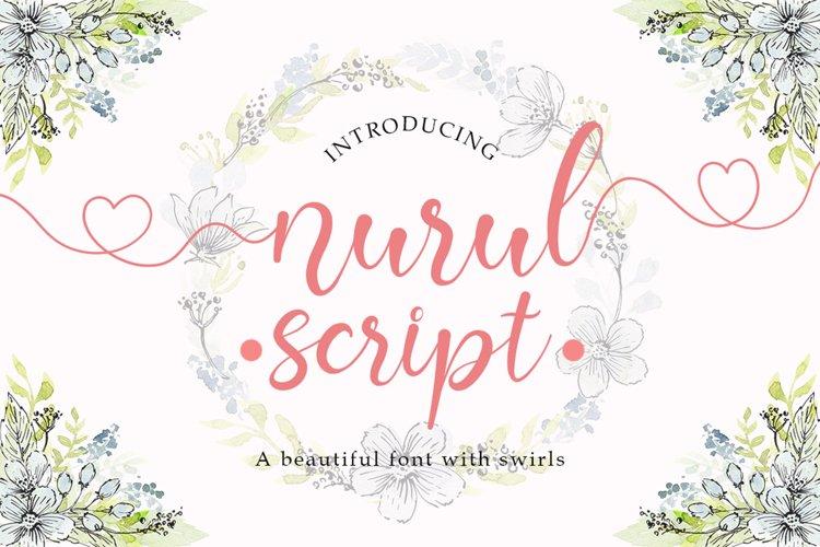 Nurul Script | A Calligraphy Font example image 1