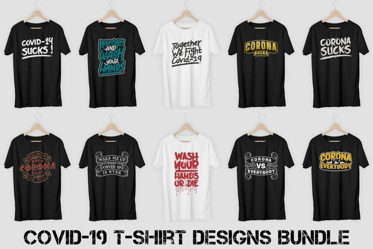 Covid-19 T-Shirt Designs Bundle Vol. 1 example image 1