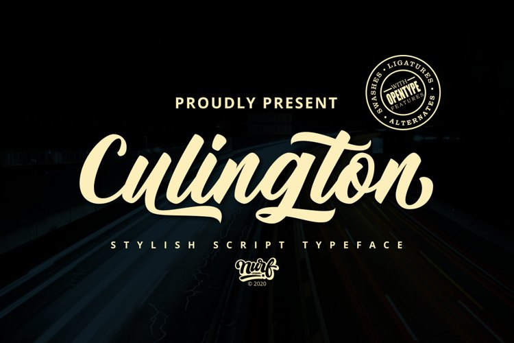 Culington - Web Font example image 1