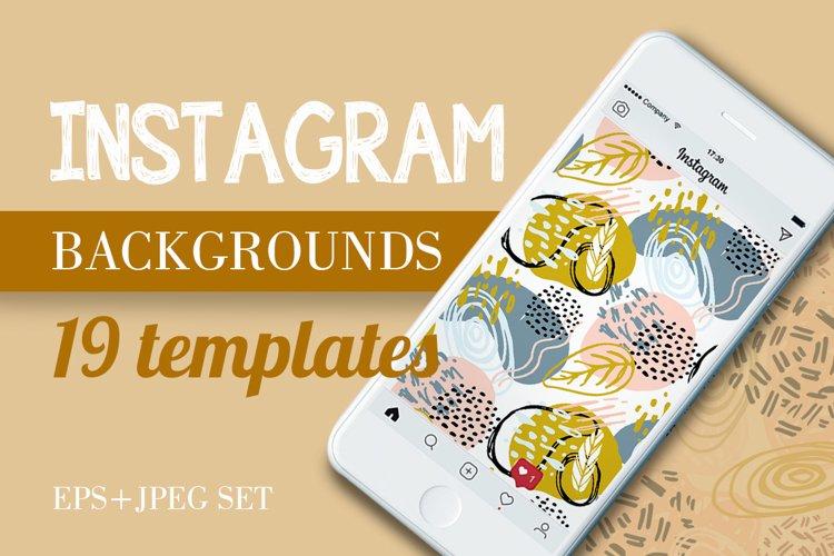 Instagram background mega set example image 1