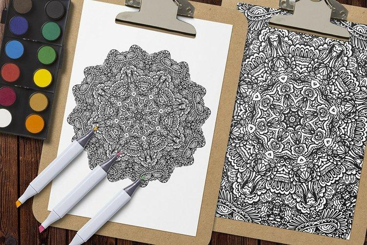 Mandala Coloring Pages Vol.6 example 4