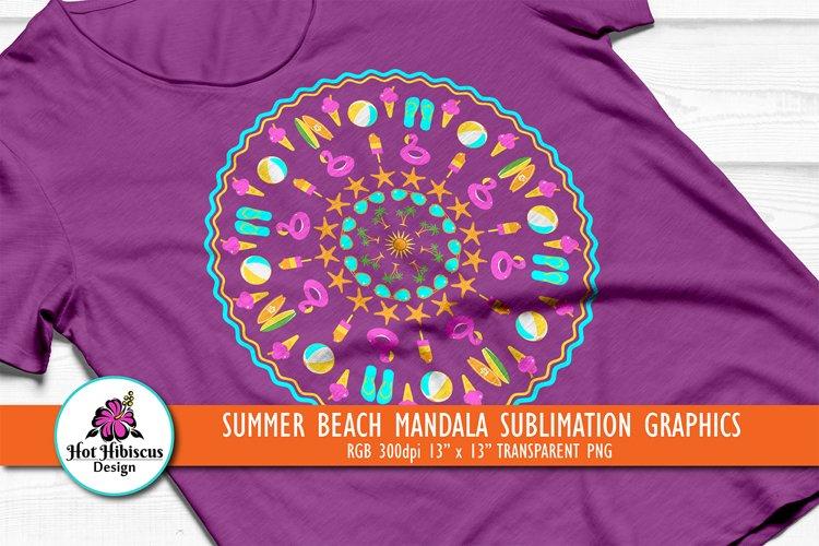 Summer T-shirt Sublimation | Cool Summer Mandala Sublimation