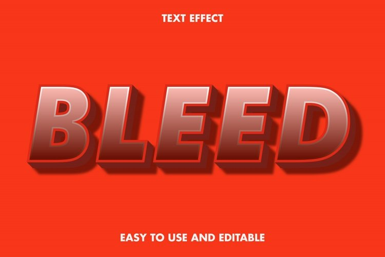 Bleed text effect. editable and easy to use. premium vector example image 1