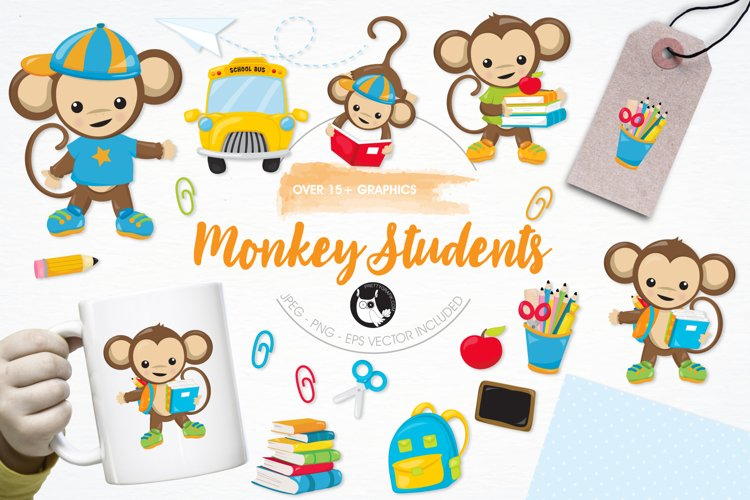 Monkey Students graphics and illustrations example image 1
