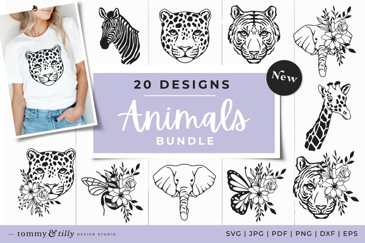 Animal SVG Bundle 20 Designs Cut Files