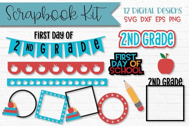 2nd Grade First Day of School Scrapbook Kit example image 1