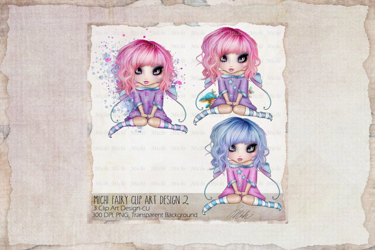 Michi Fairy,Fae Clip art Designs 3, Sublimation example image 1