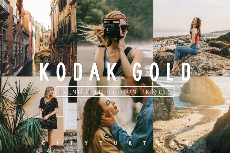 KODAK GOLD Film Travel Lightroom Presets