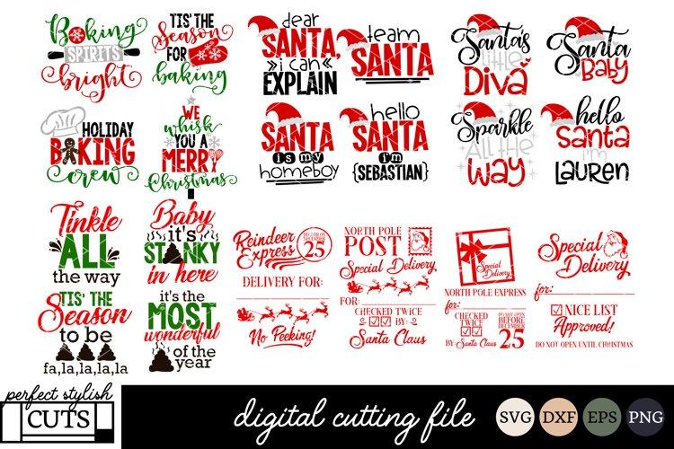 The BIG Christmas SVG Bundle - SVG, EPS, DXF, PNG For Crafts