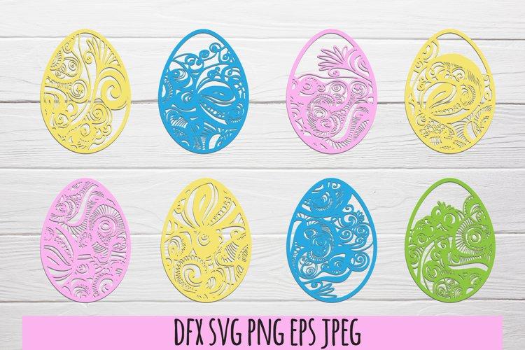 Easter eggs SVG . Easter SVG bundle example image 1