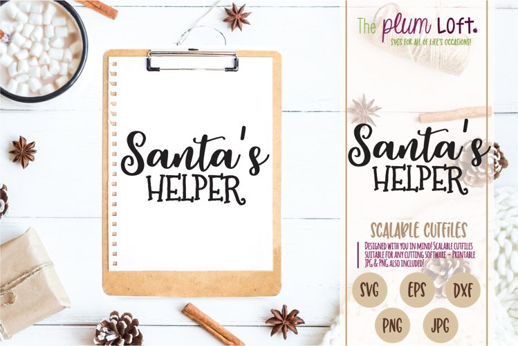 Santa's Helper - Christmas Holiday - SVG Design example image 1
