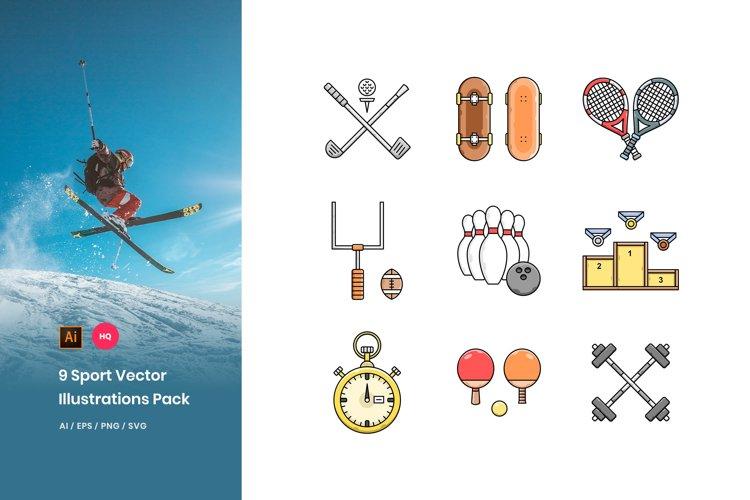 9 Sport Illustrations Pack