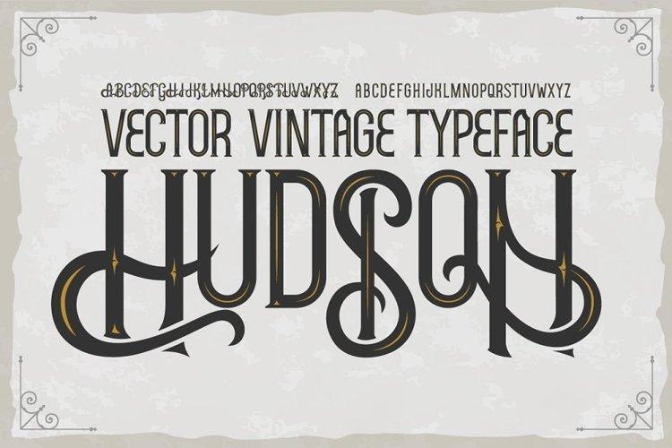 Hudson OTF vintage label font. Uppercase only! example image 1