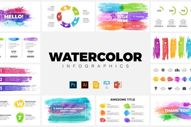 Watercolor Infographics. Presentation Templates.