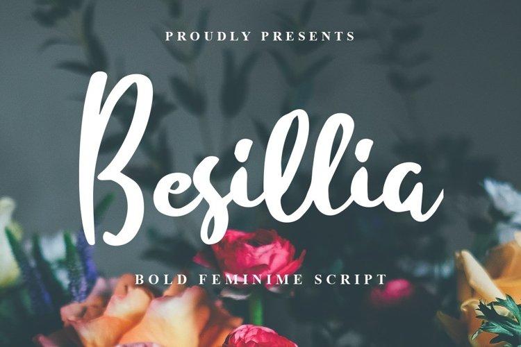 Web Font Besillia example image 1