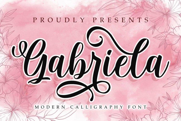 Gabriela | A Modern Calligraphy Font
