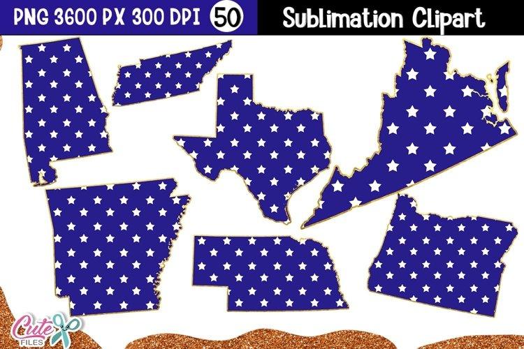 Patriotic USA States Sublimation Bundle|50 States example image 1