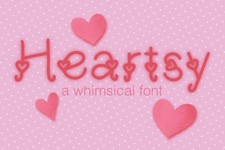 Heartsy Crafter's Font example image 1