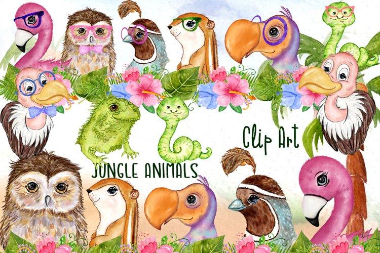 Tropical birds Cute Safari Animals Baby shower clipart Mug