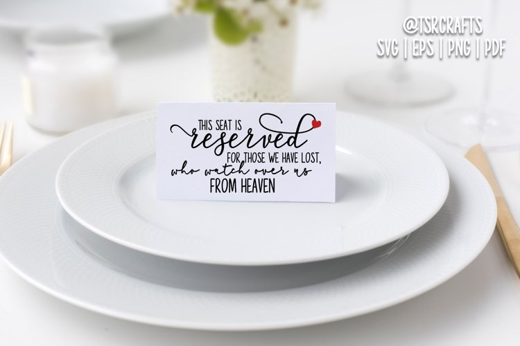 Seat Reserved for Heaven - Cut file & Printable set example image 1