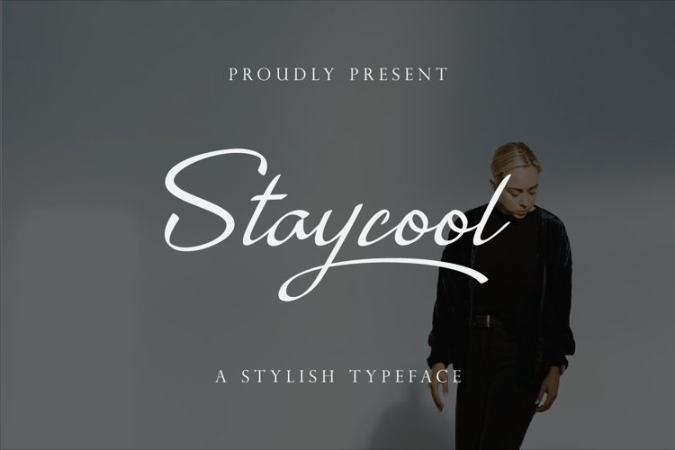 Staycool - modern calligraphy font example image 1