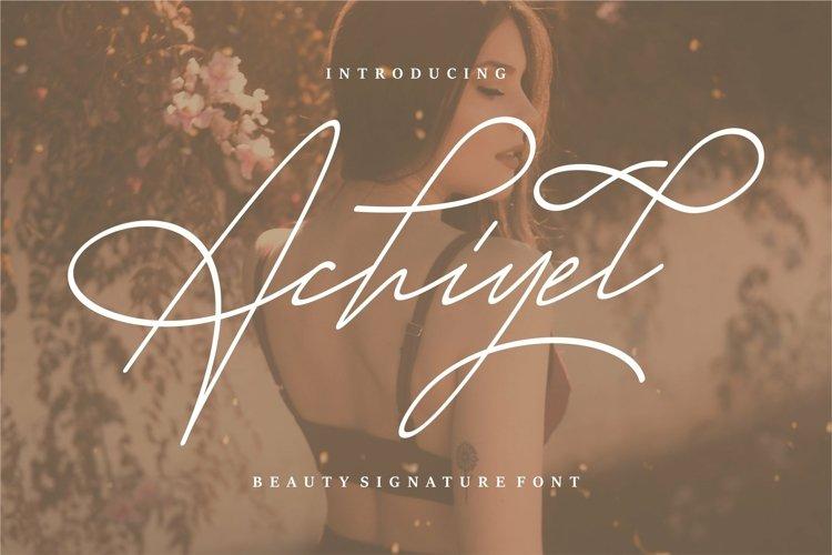 Web Font Achieyel - Beauty Signature Font example image 1