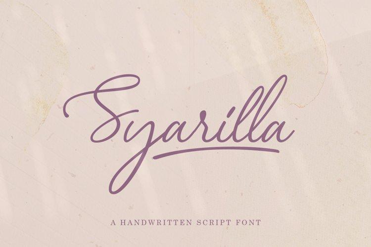 Syarilla - Handwritten Font example image 1