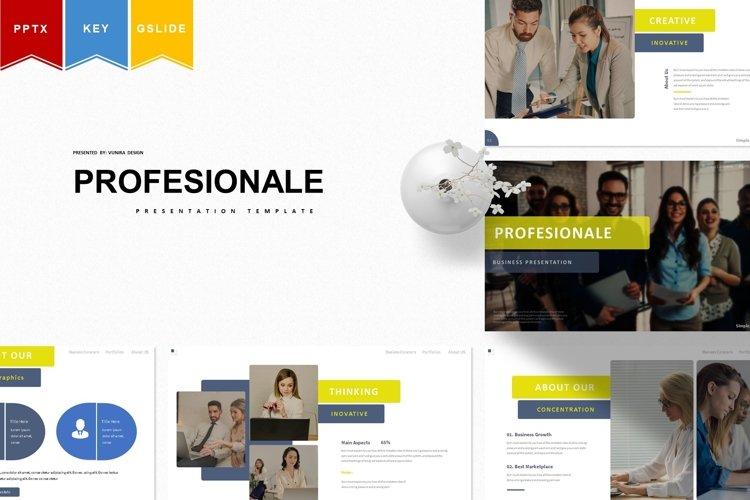 Profesionale | Powerpoint, Keynote, GoogleSlides Template example image 1