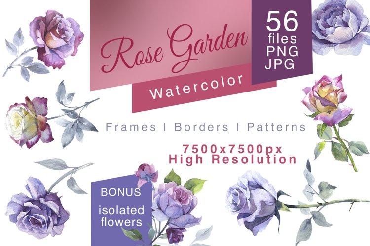 Rose Garden JPG watercolor set example image 1
