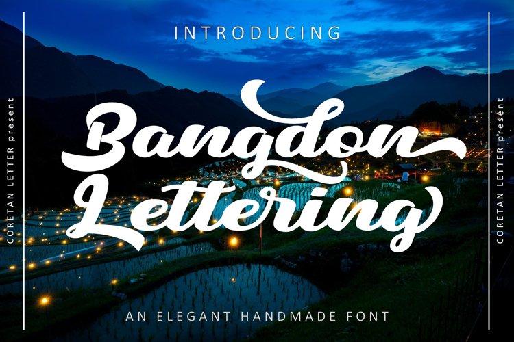 Bangdon Lettering example image 1