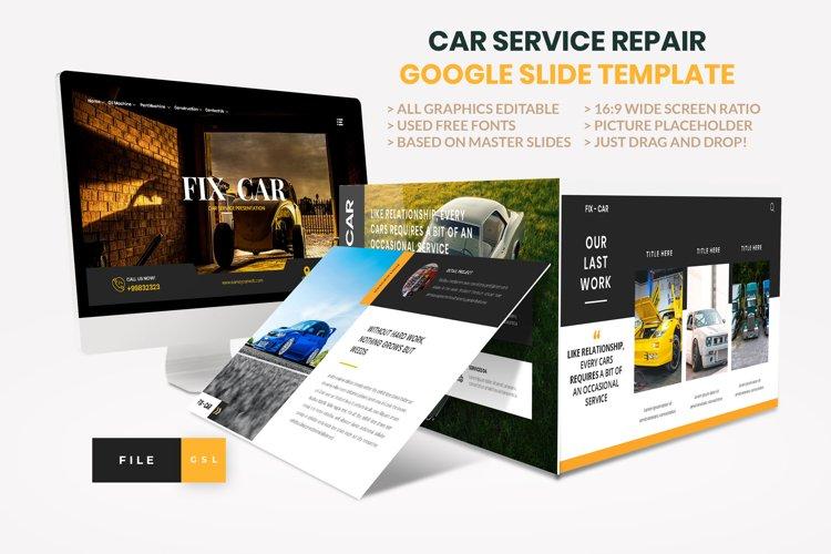 Car Repair Service Google Slide Template