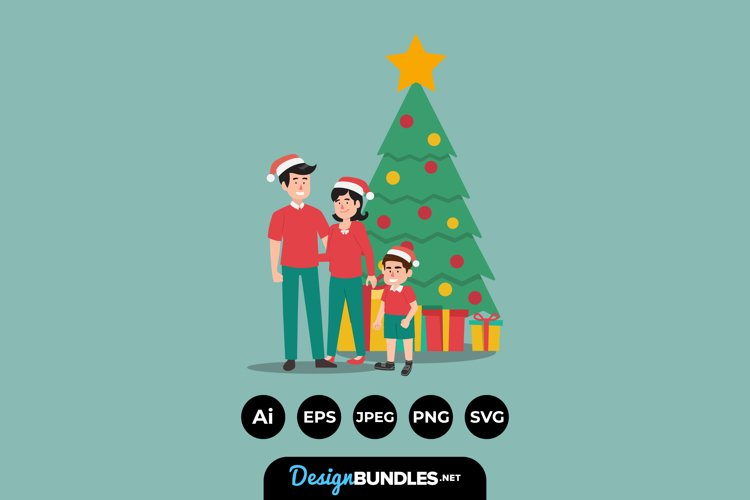 Christmas Family Illustrations example image 1