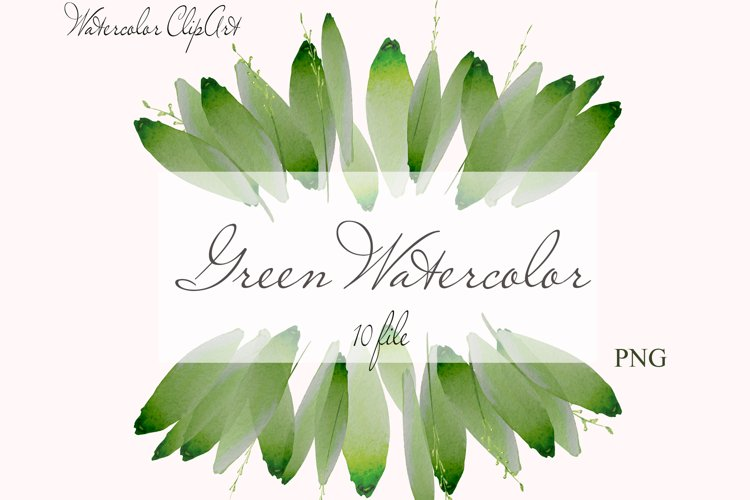 Watercolor Greenery Clipart Wreath Branches For wedding example image 1