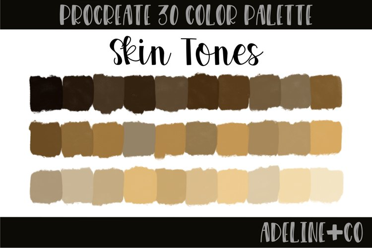 Skin Tones procreate color palette example
