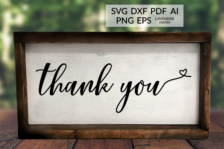 Thank you - Wedding sign SVG cut file example image 1