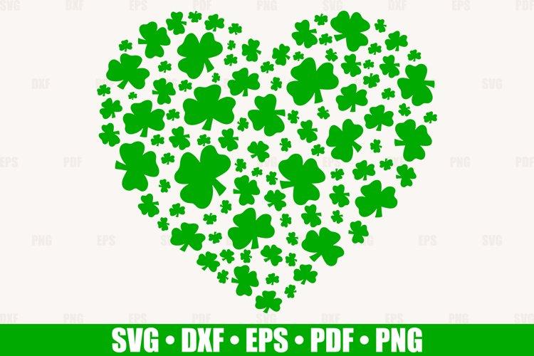 Shamrock Heart SVG files for Cricut, Heart Clover SVG example image 1