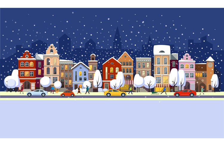 Winter town. example image 1
