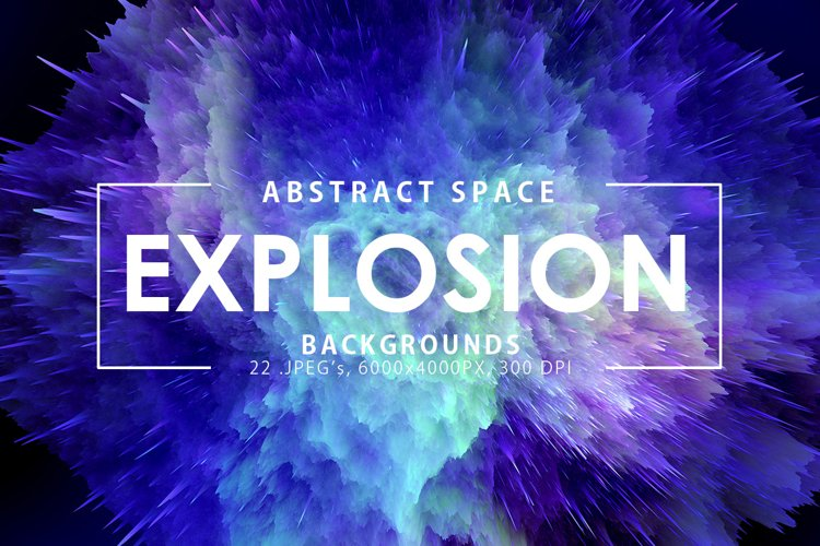 Space Explosion Backgrounds example image 1