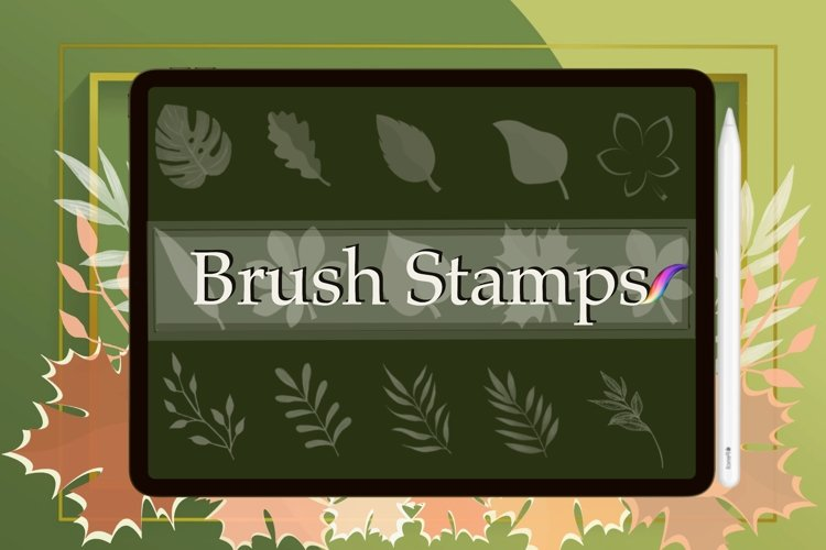 16 Leaves Stamp Brushes for Procreate, Leaf Brushes, Autumn