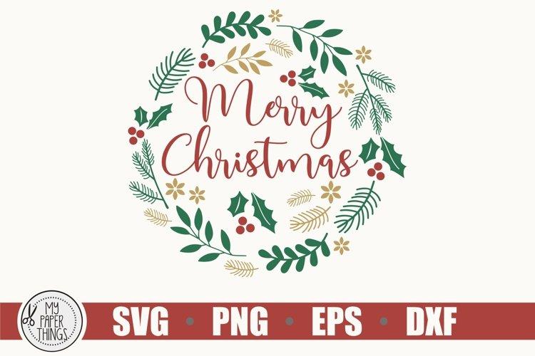 Christmas Wreath SVG, Merry Christmas svg example