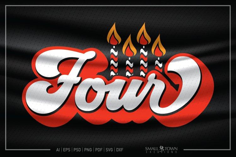 Fourth Birthday, 4th Birthday SVG, Birthday Candle SVG