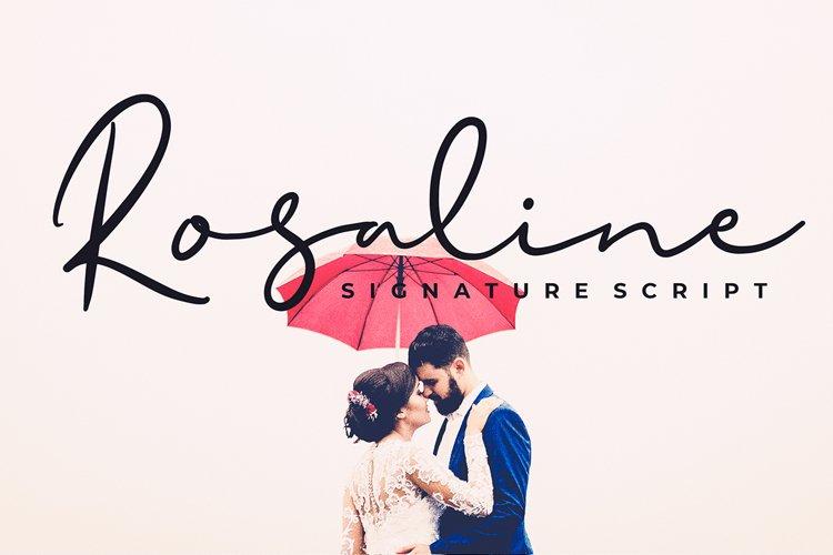 Rosaline Signature Script Font example image 1