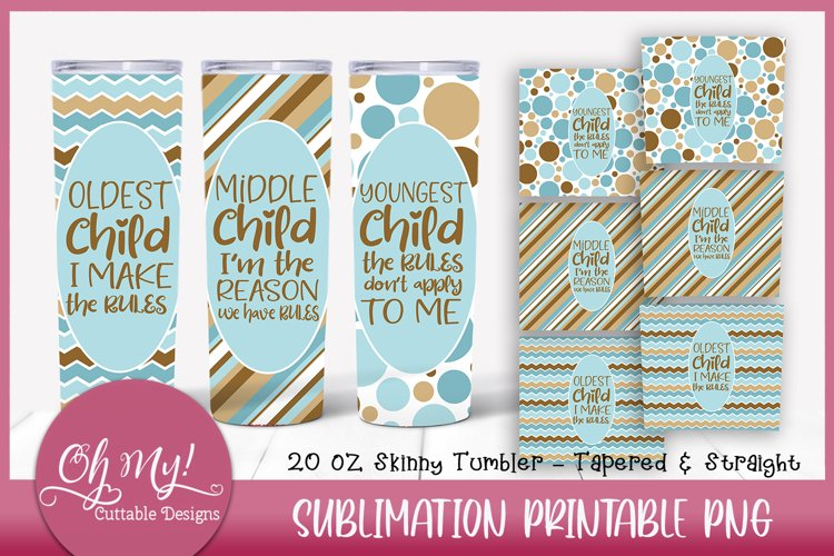 Siblings 20oz Skinny Tumbler Bundle Sublimation Designs