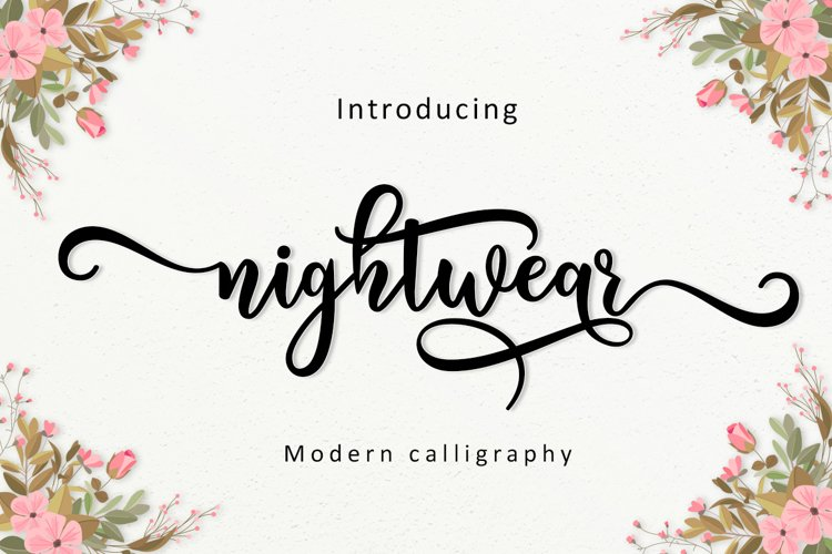 Nightwear Script example image 1