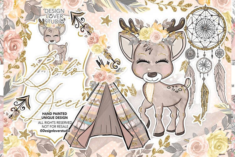 Boho Deer Cute design
