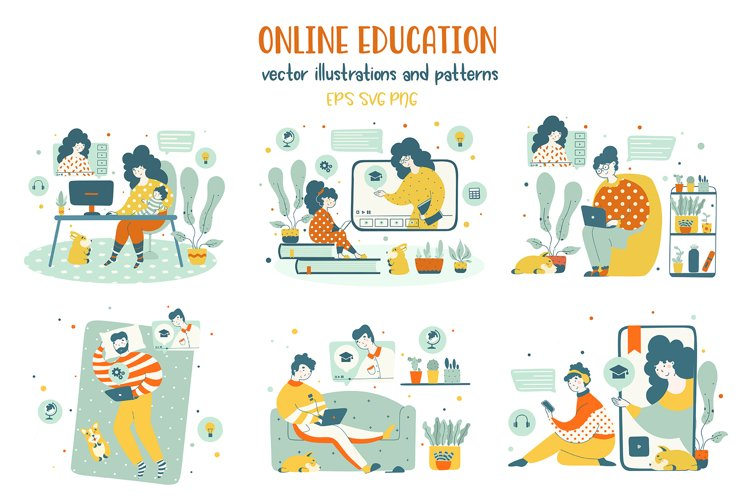 Online education - illustrations example image 1